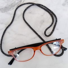 Eye Glasses Holder - BLACK - WAVE / Japanese kimono cord