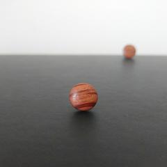 Handmade Forest Oak Stud Earrings - Simple Stud Earrings - Minimalist Round Stud