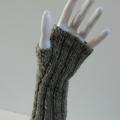 Fingerless Gloves in Wool/Alpaca Blend