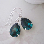 Mia - Emerald Green Crystal Earrings - Created with crystals from Swarovski®  Si
