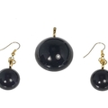 Basic Black Round Jewellery Set