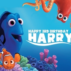 Finding Dory Nemo Personalised Edible Image Real Icing Cake Topper Large A4