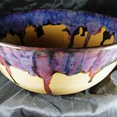 Stoneware handmade  speciality glazed  large bowl