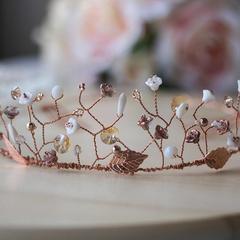 Amelie Floral Beaded Tiara