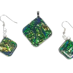 Square Green Jewelry Set