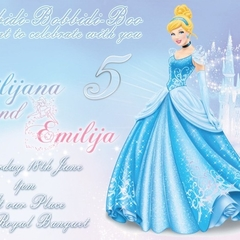 Cinderella personalised Print your Own Invitation Digital File