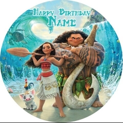 Moana Edible Image Icing personalised Cake Topper
