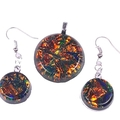Sparkling Burnt Orange Jewelry Set