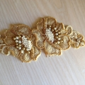 Vintage Style Embroidered and Beaded Hair Comb
