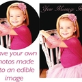 We print your OWN photo onto Real Icing Edible Printing Cake Topper