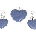 Blue with White Specks Jewellery Set