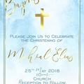 Baptism Christening Watercolour Print your Own Invitation Digital File
