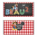 Completed Personalised Mickey Mouse farm chalkboard Wrapped 40g Chocolate Bars