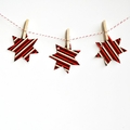 Red Brown Orange Christmas Star Tags {10} Festive Gift Tags