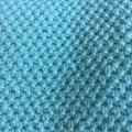 Handmade knitted merino wool baby blanket, baby boy blanket, mint baby blanket,