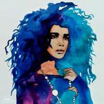 """Boho Beauty"" - Art Print. 40 x 50cm"
