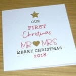 Merry Christmas card - First Married Christmas