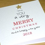 Merry Christmas card - Text tree