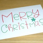Merry Christmas cards - fun text - 2 styles