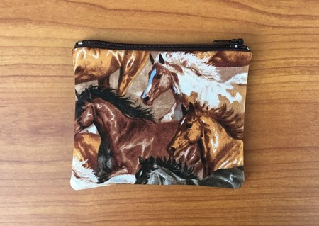 Horse Print Coin Purse