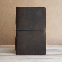 LARGE PIONEER LEATHER JOURNAL - CHOCOLATE