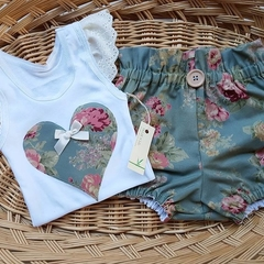 """""""I Love You Forever"""" Girls Britches Set Size 2"""