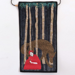 Red Riding Hood Art Quilt