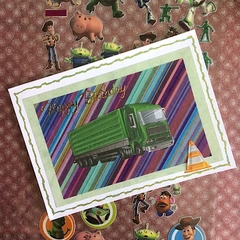 'Big Green Truck' Birthday Card