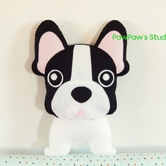 French Bulldog Plush / Dog Softie / Dog Toy / Dog Pillow / 100% Wool Felt Toy