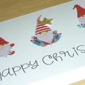 Merry Christmas card - Christmas Gnomes