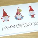 Merry Christmas card - Christmas Gnomes