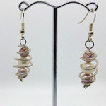 Recycled hand made 925 Silver Cage Pearl Earrings