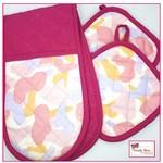Pink Camouflage | Pot Mitt and Holder Set | pot holder mitts