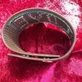 Brown Stitched Bracelet Cuff
