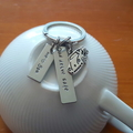 Dad Drive Safe Keys,Fathers Day Gift, Keyring,Hand Stamped,Father gift,