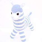 'Arnold' the Sock Alpaca - blue and white - *READY TO POST*
