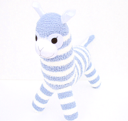 'Arnold' the Sock Alpaca - blue and white stripes - *ready to post*