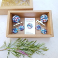 Liberty Purple Floral Magnet Gift Box Set
