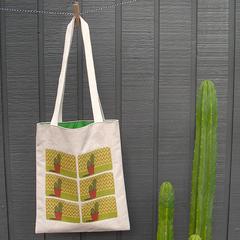 Organic Cotton & Hemp Tote Bag (cactus)