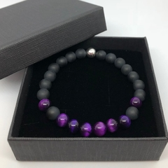 Bracelet - Purple Tiger's Eye. Sml, Med, Lge, XL.