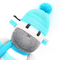 'Blake' the Sock Monkey - turquoise grey black and white - *READY TO POST*