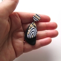 Butterfly wings drop earrings polymer clay by sasha and max