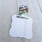 Sleepy Sloth Bulldog Clip