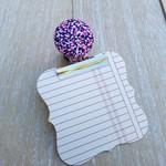 Speckled Pink Magnetic Bulldog Clip