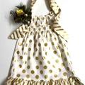 Size 3 - 'Gold Spots' Christmas Dress