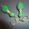 Malachite and Jade earrings