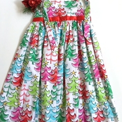 Size 6 - 'Xmas Trees'Dress