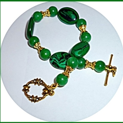 Malachite and Jade bracelet.