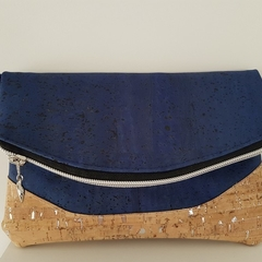 Cork leather Heidi fold over clutch - listing for Kali