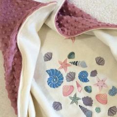 Toddler personalised gift, ocean, name blanket, baby name blanket, best baby gif